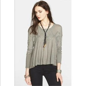 Free People Moss New Hope Babydoll Open Back Top